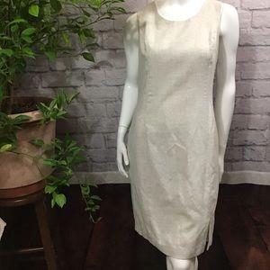 💙 SALE! 3/$15 Cream sleeveless light shift dress